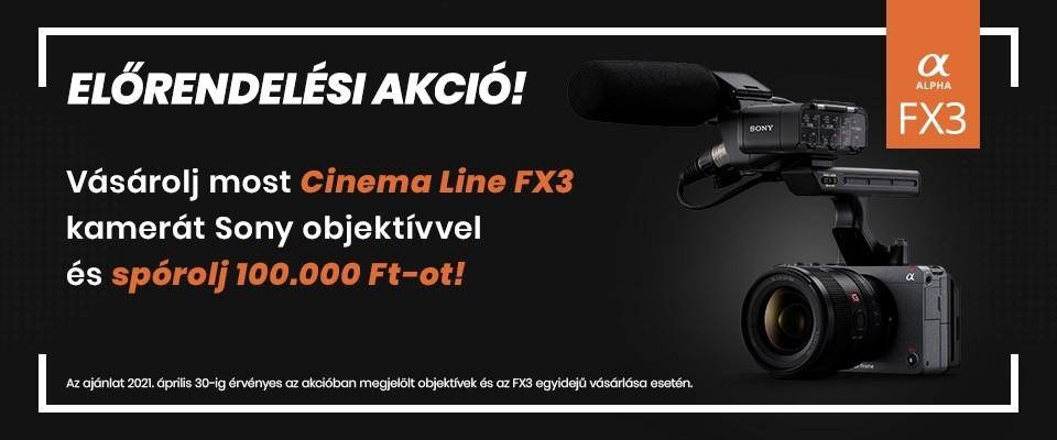 Sony FX3 előrendelési akció!