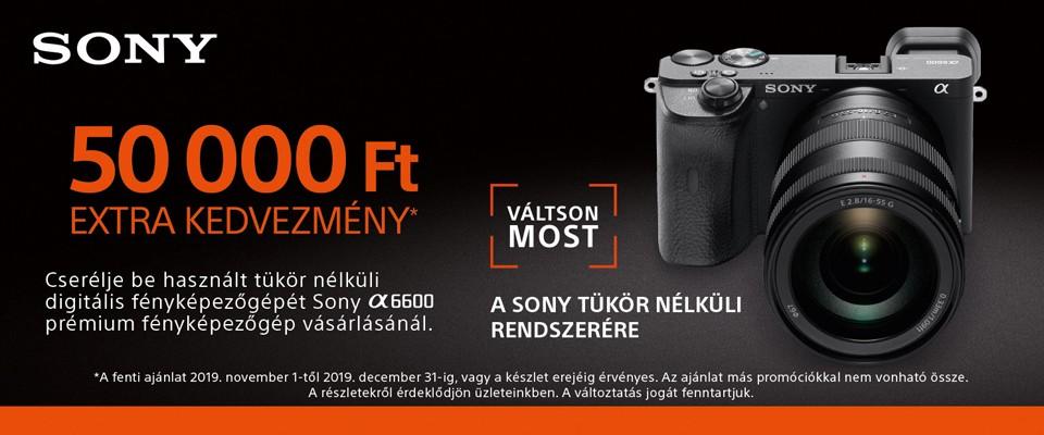 Sony ILCE-6600 csereakció